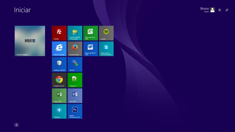 O polêmico menu iniciar do Windows 8